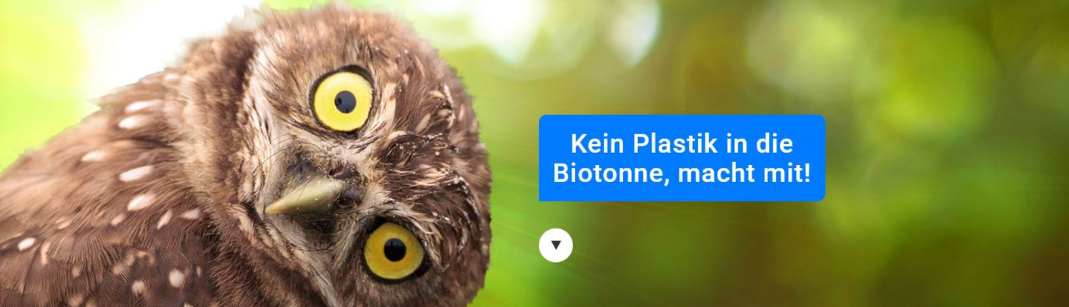 Kein Plastik in die Biotonne